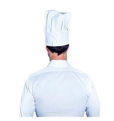 Chapéu Cozinheiro Chef Algodão Branco (25 Uds)