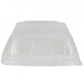 Tampa Plástico PET Transparente Bandeja 27x27cm (25 Uds)