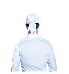 Lenço Cozinheiro Pirata Algodão Branco (25 Uds)