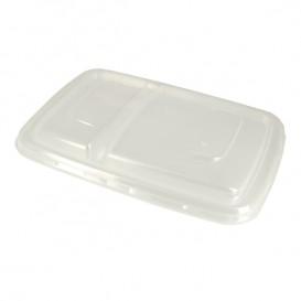 Tampa Plástico PP Embalagem 2C 23x16,5cm (50 Uds)