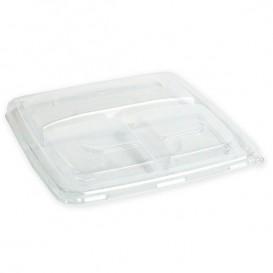 Tampa Plástico PP para Embalagem 3C 23cm (25 Uds)