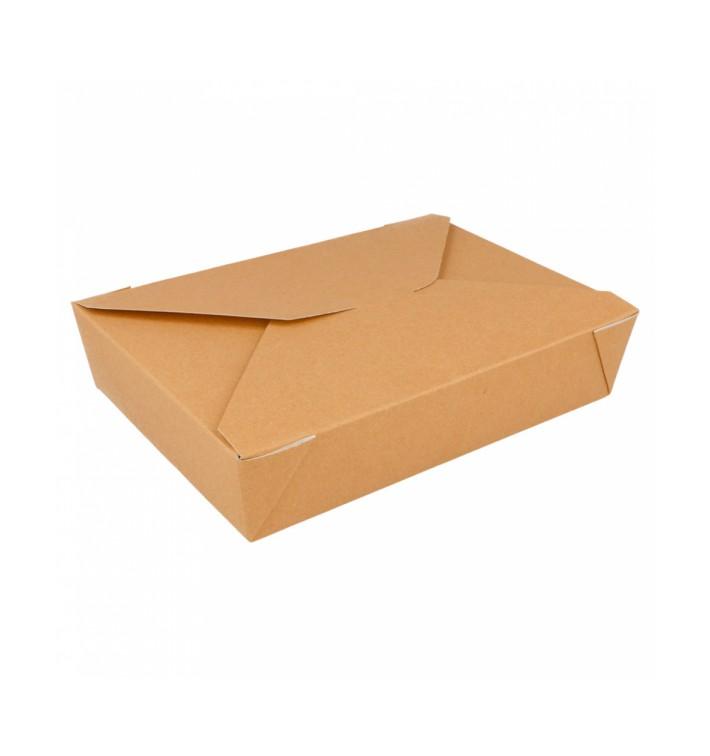 Caixa Cartão TakeAway Kraft 19,7x14x4,6cm 1470ml (200 Uds)