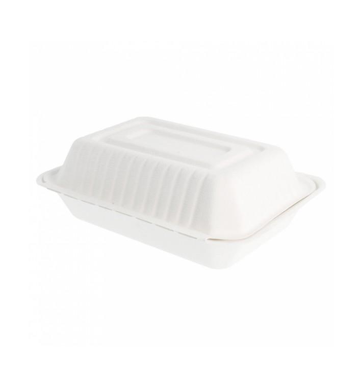 Embalagem Cana-de-açúcar Branco 225x165x64mm (200 Uds)