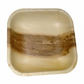 Prato quadrado de folha de palmeira 11,5x11,5x1,5cm (200 Uds)