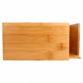 Porta-Guardanapos de Bambu 21x21x10cm (1 Ud)