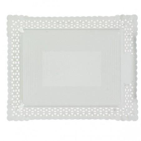 Bandeja de Cartão Renda Branco 31x39 cm (50 Uds)