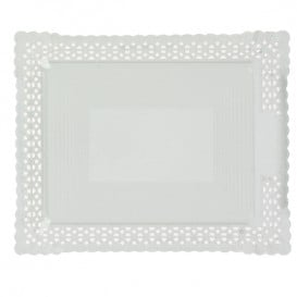 Bandeja de Cartão Renda Branco 27x32 cm (100 Uds)
