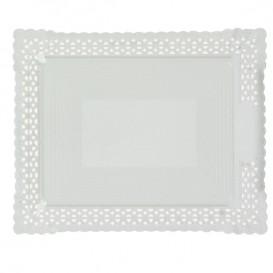 Bandeja de Cartão Renda Branco 18x25 cm (100 Uds)