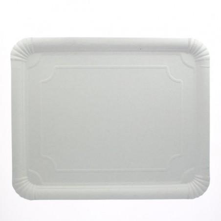 Bandeja de Cartão Rectangular Branca 31x38 cm (50 Uds)