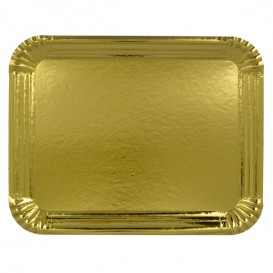 Bandeja de Cartão Rectangular Ouro 40x50 cm (25 Uds)