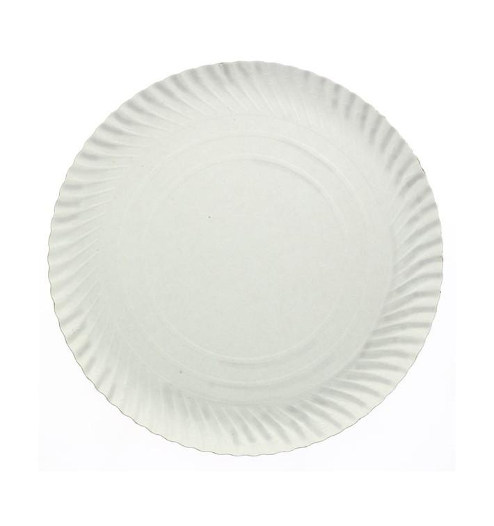 Prato de Cartão Redondo Branco 140 mm (100 Uds)