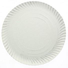 Prato de Cartão Redondo Branco 160 mm (100 Uds)