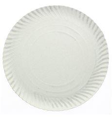Prato de Cartão Redondo Branco 250 mm (100 Uds)