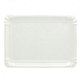 Bandeja de Cartão Rectangular Branca 20x27 cm (100 Uds)