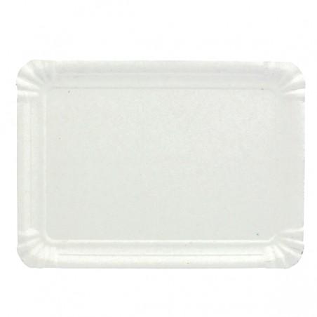 Bandeja de Cartão Rectangular Branca 12x19 cm (100 Uds)