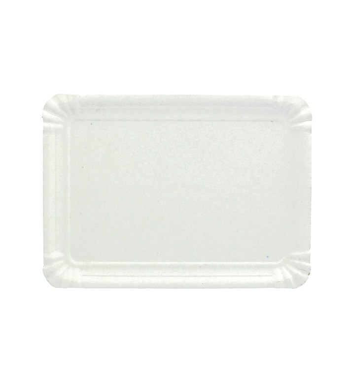 Bandeja de Cartão Rectangular Branca 18x24 cm (800 Uds)