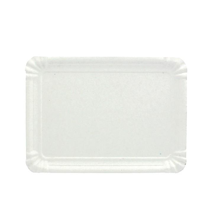 Bandeja de Cartão Rectangular Branca 22x28 cm (100 Uds)