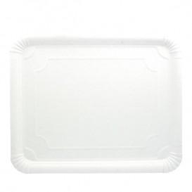 Bandeja de Cartão Rectangular Branca 31x38 cm (200 Uds)