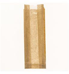 Saco de Papel Kraft Janela 10+4x29cm (125 Uds)