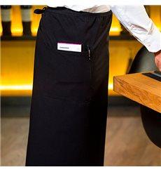 Mandil Francês com 2 bolsos Preto 90x110cm (1 Ud)
