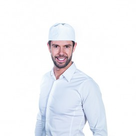 Touca Cozinheiro Rede Algodão Branco (25 Uds)