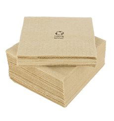 "Guardanapos Papel Eco ""Recycled"" 20x20cm (100 Uds)"