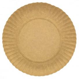 Prato de Cartão Redondo Kraft 230 mm (100 Uds)