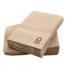 Guardanapos Papel Miniservis Eco Kraft 17x17cm (200 Uds)
