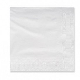 Guardanapos Papel Branco 20x20cm 3 Folhas (100 Uds)