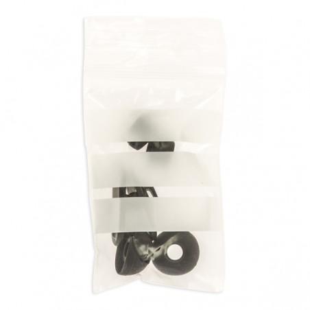 Saco Polietileno Fecho zip e Banda Escrever 6x8cm G200 (100 Uds)