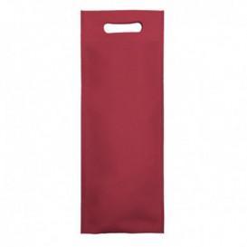 Saco Não Tecido para Garrafa de Vinho Bordô 17+10x40cm (200 Uds)