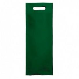 Saco Não Tecido para Garrafa de Vinho Verde 17+10x40cm (25 Uds)