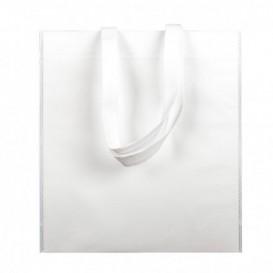 Saco Não Tecido com Asas Longas Branco 38x42cm (25 Uds)