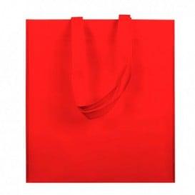 Saco Não Tecido com Asas Longas Vermelho 38x42cm (25 Uds)