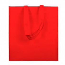 Saco Não Tecido com Asas Longas Vermelho 38x42cm (200 Uds)