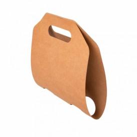Porta-Copos de Papel Kraft 46,5x22,5cm Ø6,7cm (100 Uds)