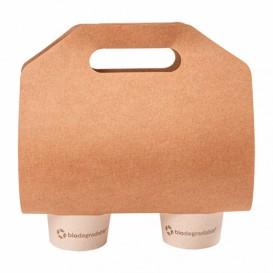 Porta-Copos de Papel Kraft 46,5x22,5cm Ø6,7cm (400 Unidades)