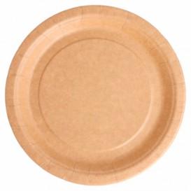 Prato de Papel Biocoated Natural Ø18 cm (20 Uds)