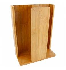 Organizador de Copo e Tampa de Bambu 23x12x30cm (8 Uds)
