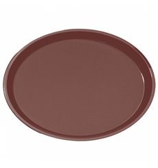 Bandeja PP Oval Anti Deslizante Marrom 67,0x55,5cm (1 Ud)