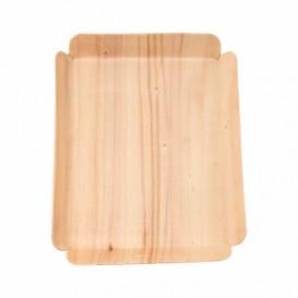 Barquilhas de Madeira Retangular 15x11,5x1,5 cm (200 Uds)