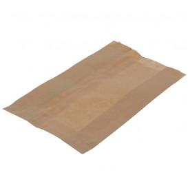 Saco de Papel Antigordura Kraft 12+6x20cm (250 Uds)