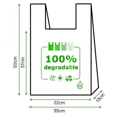 Saco Plastico Alça Degradável 100% 35x50 (200 Uds)