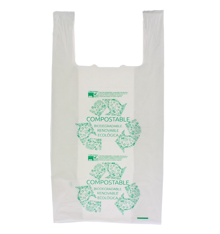 Saco Plastico Alça Biodegradável 100% 40x50cm (1800 Uds)