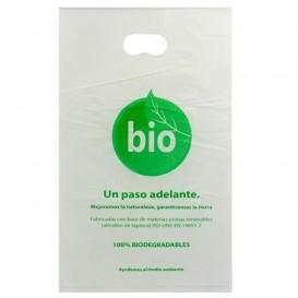 Saco Plastico Asas Vazadas 100% Biodegradável 20x33cm (3.000 Uds)