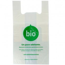 Saco Plastico Alça Biodegradável 100% 55x60 cm (100 Uds)