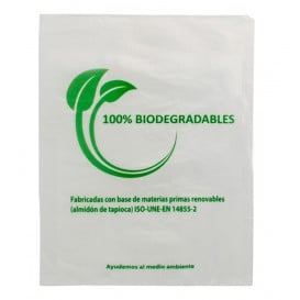 Saco Plastico Mercado 100% Biodegradável 30x40cm (100 Uds)