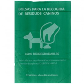 Saco Plastico de excrementos cão 100% bio 20x33cm (3000 Uds)