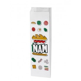 "Saco Anti-Gordura Sanduíche ""Ñam"" 10+4x29cm (125 Uds)"