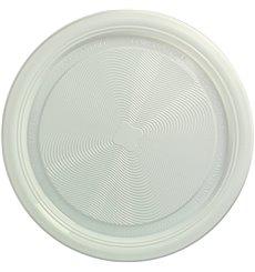 Prato Amido Milho PLA Raso Branco Ø220 mm (25 Unidades)